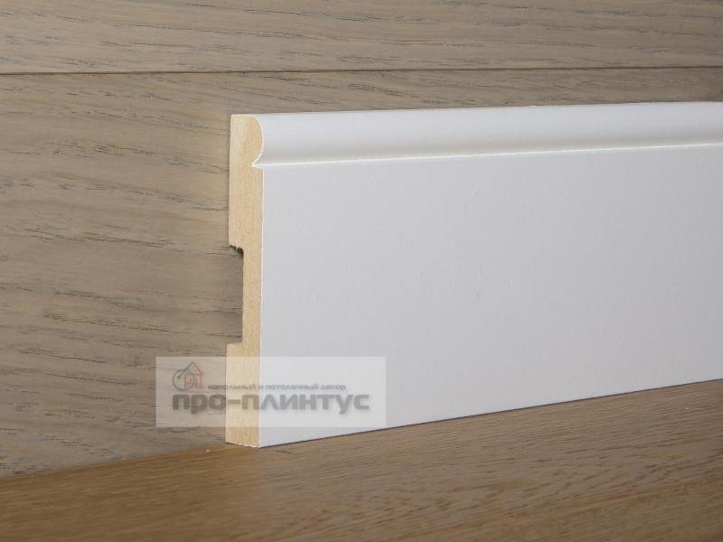 Плинтуса потолочный белый высокий