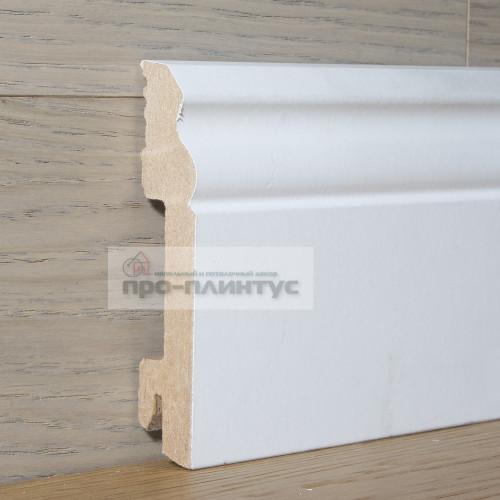 Плинтус Pedross МДФ белый фигурный 100×18мм