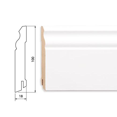 Плинтус белый MDF 100 мм