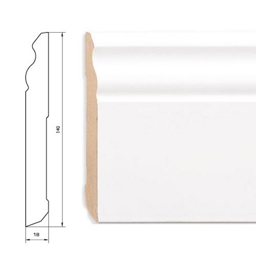 Плинтус белый MDF 140 мм