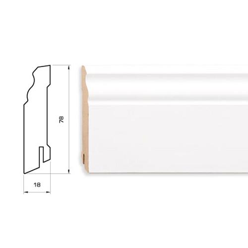 Плинтус белый MDF 78 мм