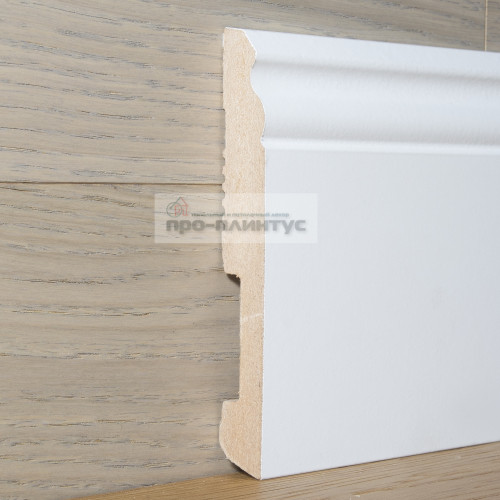 Плинтус Pedross МДФ белый фигурный 140×18мм