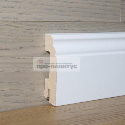 Плинтус Pedross белый 70х18 фигурный
