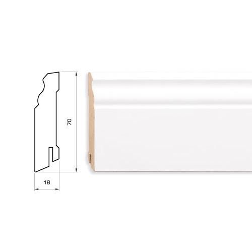 Плинтус белый MDF 70 мм