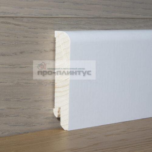 Плинтус Pedross деревянный белый 80×18мм