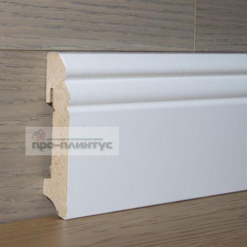 Плинтус FN Profile МДФ белый фигурный 90х18мм