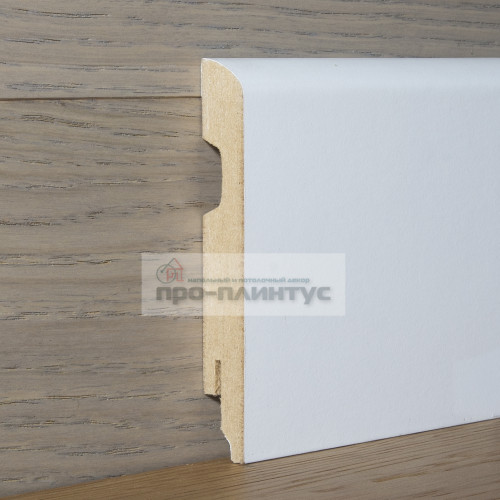 Плинтус Perfilstar МДФ белый плоский 100×14мм