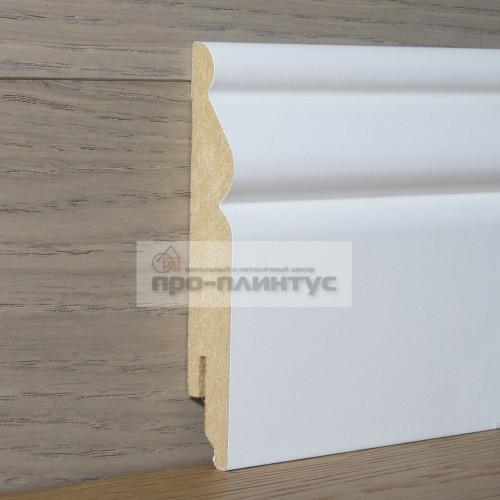 Плинтус Perfilstar МДФ белый фигурный 120×14мм
