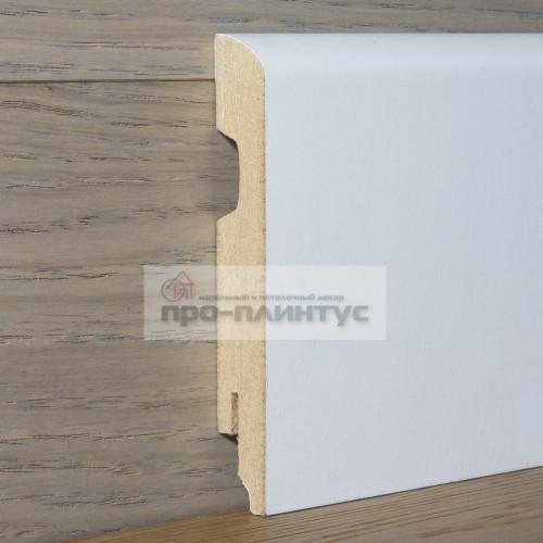 Плинтус Perfilstar МДФ белый плоский 120×14мм