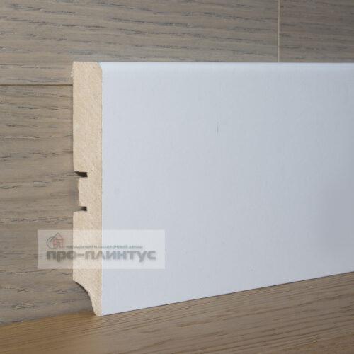 Плинтус SP-decor МДФ белый плоский 100x16мм