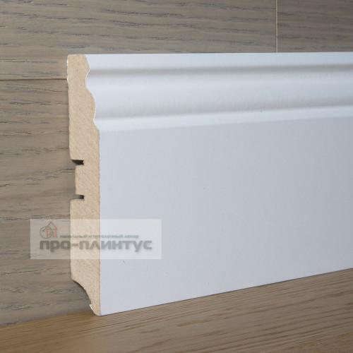 Плинтус SP-decor МДФ белый фигурный 100×16мм