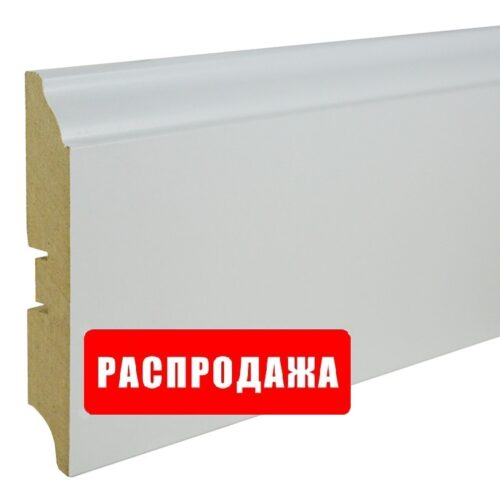 Плинтус Плинтус SP-decor МДФ белый 100×16мм