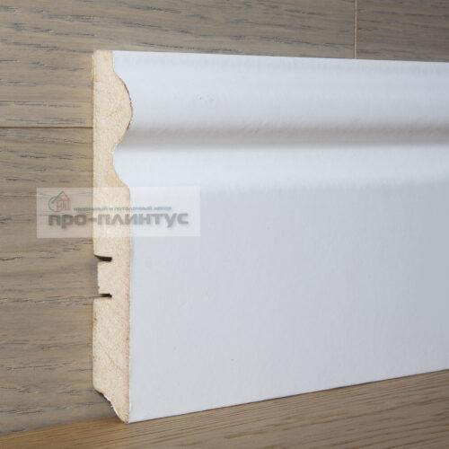 Плинтус SP-decor МДФ белый фигурный 116×16мм