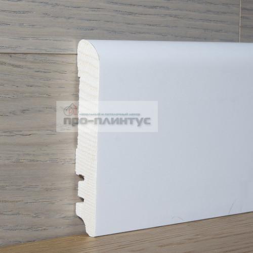 Плинтус Tecnorivest деревянный белый 100×15мм