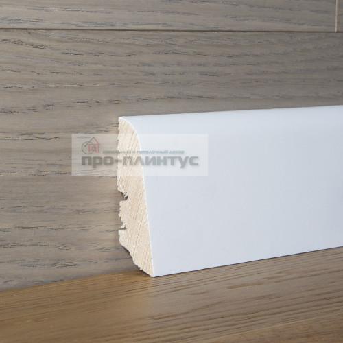 Плинтус Tecnorivest-60х21 белый гладкий