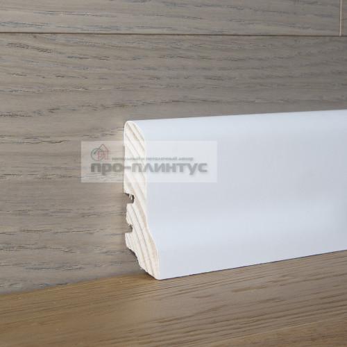 Плинтус Tecnorivest-60х22 белый гладкий