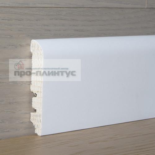 Плинтус Tecnorivest деревянный белый 70×13мм