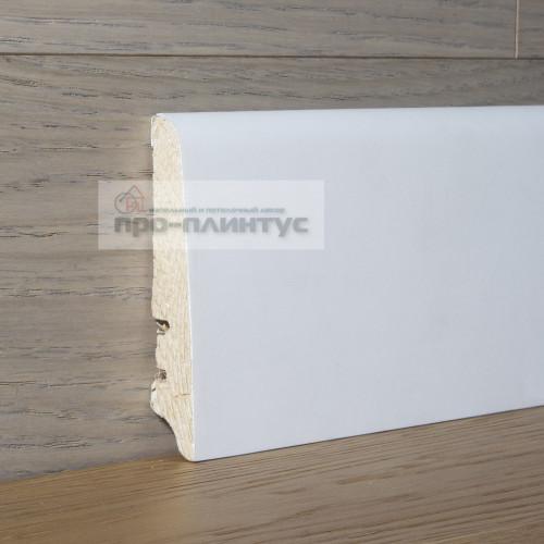 Плинтус Tecnorivest деревянный белый 80×16 мм