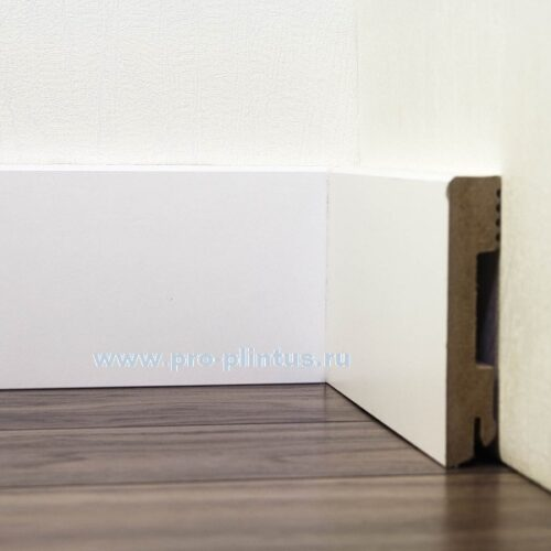 Плинтус Pedross МДФ белый плоский 100×18мм