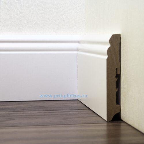 Плинтус FN Profile МДФ белый фигурный 115×18мм