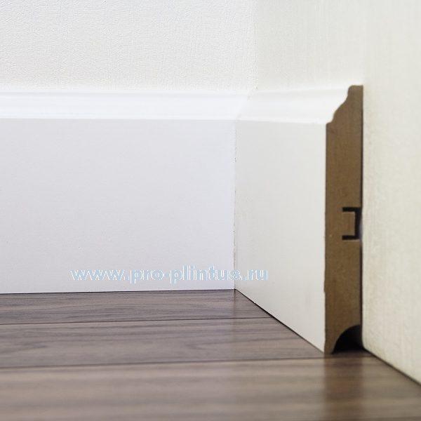 Плинтус SP-decor МДФ белый 120×16мм