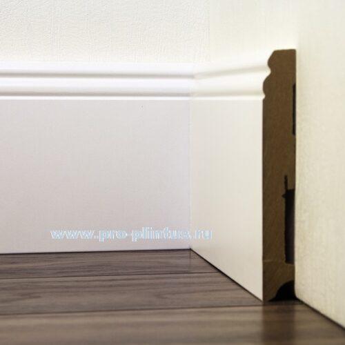 gлинтус FN Profile МДФ белый фигурный 140×19мм