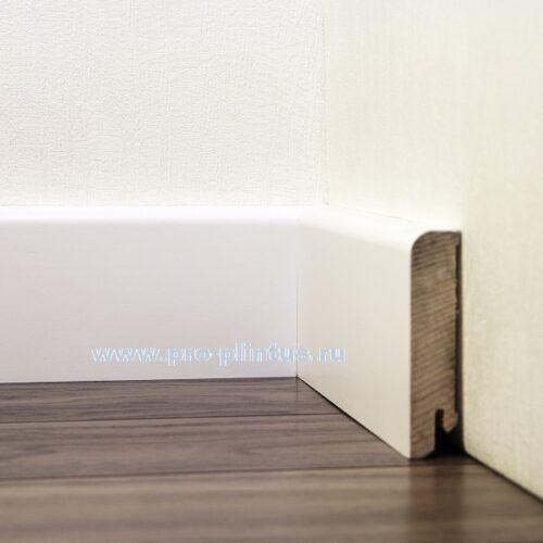 Плинтус Tecnorivest деревянный белый 80×20мм