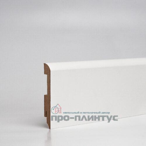Плинтус МДФ 100x16 мм белый плоский TeckWood