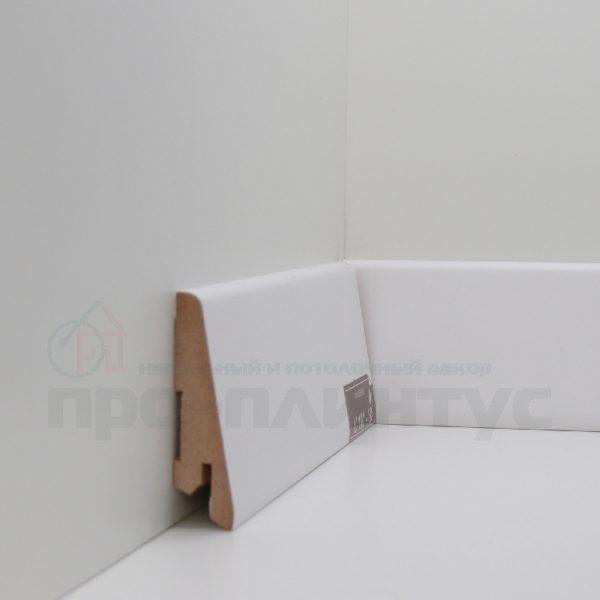 Плинтус белый плоский Deartio U101-60