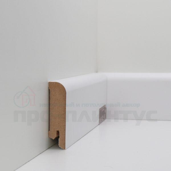 Плинтус белый плоский Deartio U102-60
