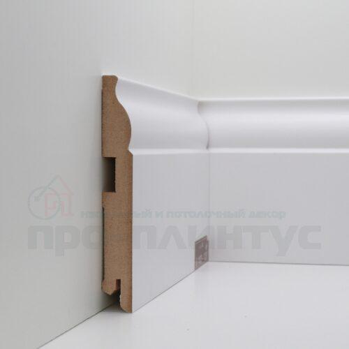 Плинтус белый высокий Deartio U103-120
