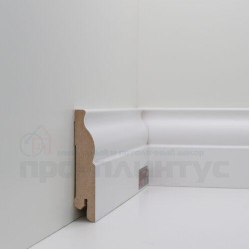 Плинтус белый высокий Deartio U103-80