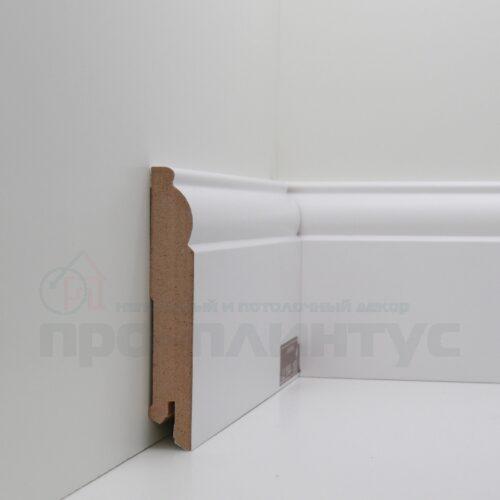 Плинтус белый высокий Deartio U104-100