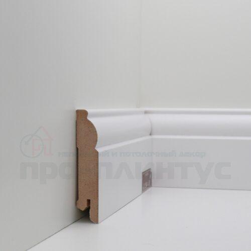 Плинтус белый высокий Deartio U104-80