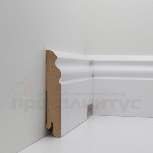Плинтус белый высокий Deartio U105-100