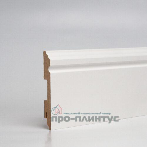 Плинтус TeckWood МДФ белый фигурный 120x16мм