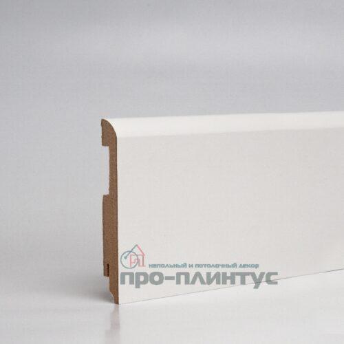 Плинтус TeckWood МДФ белый плоский 120x16мм
