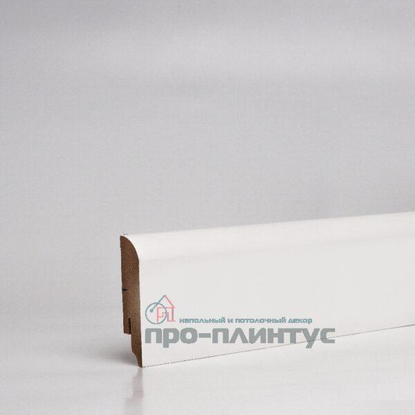 Плинтус МДФ 70x16 мм белый плоский TeckWood