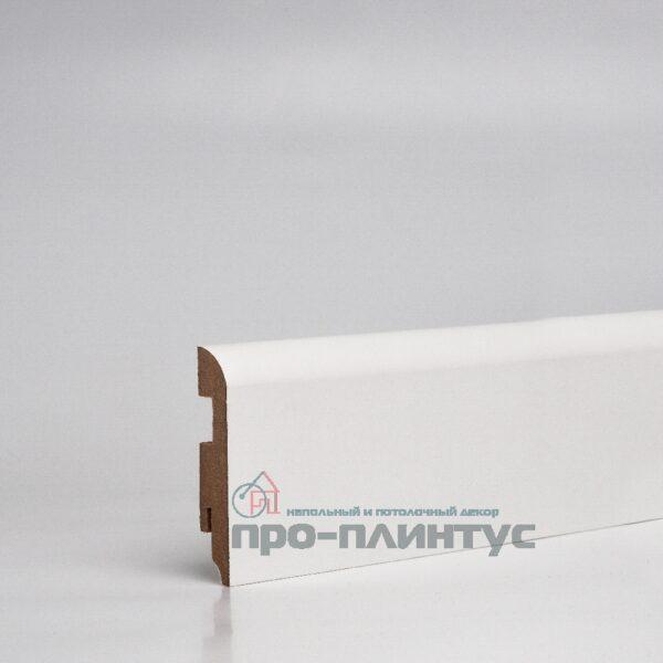 Плинтус МДФ  80x16 мм белый плоский TeckWood