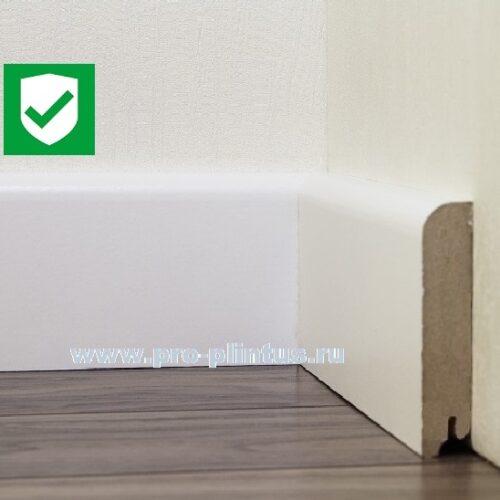 Плинтус МДФ Line Decor P102-12 белый плоский 120x18мм