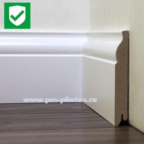 Плинтус МДФ Line Decor P103-12 белый фигурный 120x18мм