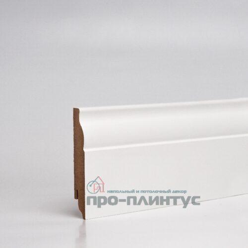 Плинтус МДФ 100x16 мм белый фигурный TeckWood Modern
