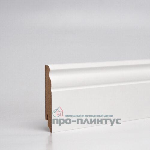 Плинтус МДФ 100x16 мм белый фигурный TeckWood Renaissance