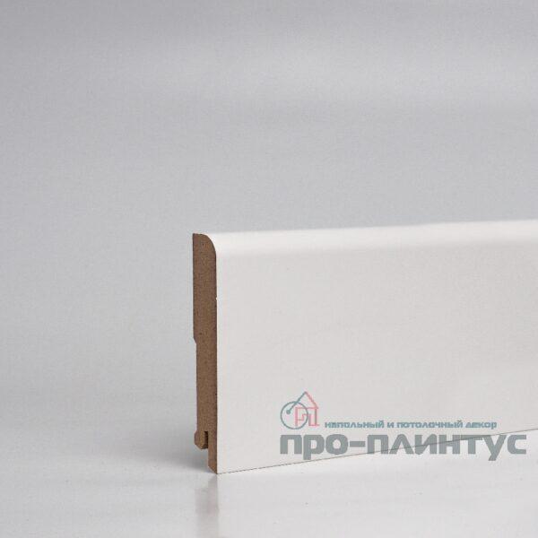 Плинтус Pro-line МДФ белый плоский 100x16 мм