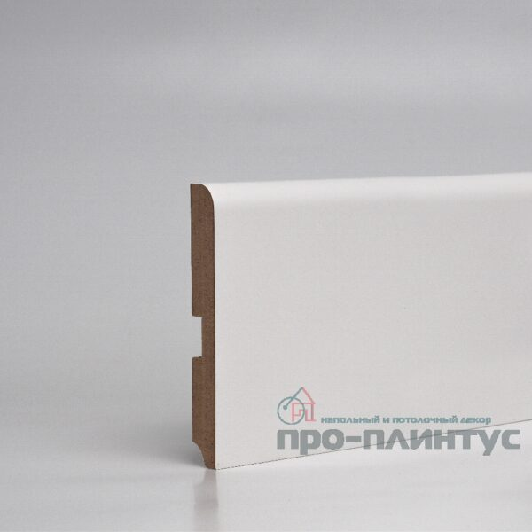Плинтус Pro-line МДФ белый плоский 120x16 мм
