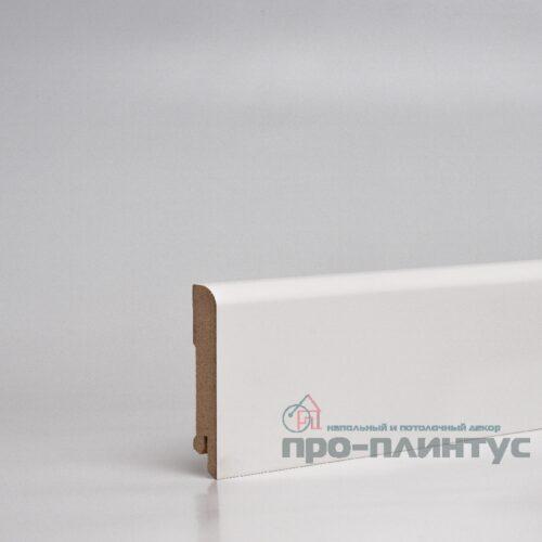Плинтус Pro-line МДФ белый плоский 80x16 мм