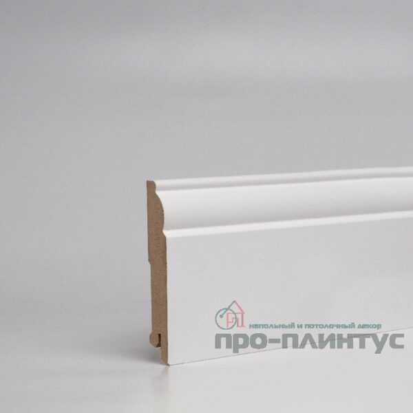 Плинтус Pro-line МДФ белый фигурный 100x16 мм