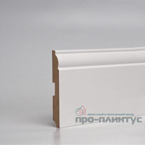 Плинтус Pro-line МДФ белый фигурный 120x16 мм