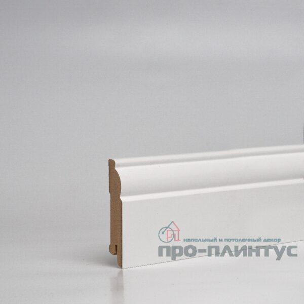 Плинтус Pro-line МДФ белый фигурный 80x16 мм