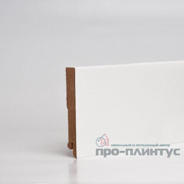 Плинтус белый плоский Pro-line W06-100